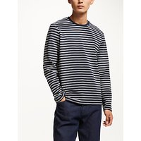 Kin by John Lewis Ottoman Stripe Long Sleeve T-Shirt, Black