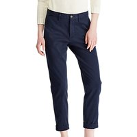 Polo Ralph Lauren Brooke Stretch Twill Cropped Trousers, Aviator Navy