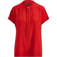 Polo Ralph Lauren Silk Short Sleeve Blouse, RL 2000 Red
