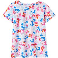 Joules Nessa Jersey T-Shirt, Bright White Ditsy