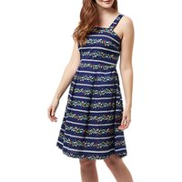 Sugarhill Brighton Floral Stripe Sundress, Navy/Multi