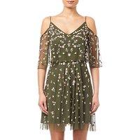 Adrianna Papell Beaded Short Dress, Olive