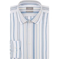 Jaeger Slim Contrasting Wide Stripe Shirt, Yellow