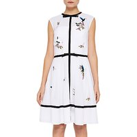 Ted Baker Iina Embroidered Highgrove Dress, White