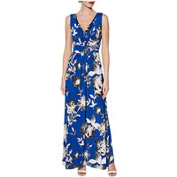 Gina Bacconi Fifi Floral Maxi Dress, Royal Blue/Ivory