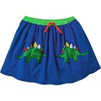 Mini Boden Girls' Novelty Dinosaur Pocket Skirt, Blue