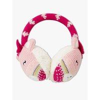 John Lewis & Partners Children's Pastel Cat Earmuffs, Pink