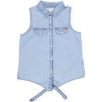Polarn O. Pyret Children's Tied Blouse, Baby Blue