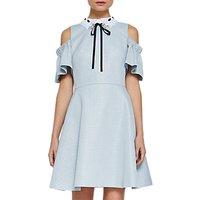 Ted Baker Araye Cold Shoulder Bow Dress, Baby Blue