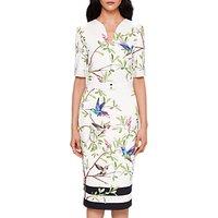 Ted Baker Highgrove Bodycon Midi Dress, White