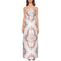 Ted Baker Hilairi Versailles Strapless Maxi Dress, White