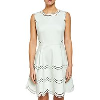 Ted Baker Embroidered Tiered Skirt Dress, Mint