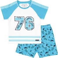 Polarn O. Pyret Jungle Baby Shorts and Top Set, Blue/Multi