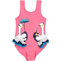 Polarn O. Pyret Baby Ostrich Swimsuit, Pink