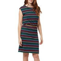 Sugarhill Brighton Pure Cotton Hetty Stripe Dress, Navy/Multi