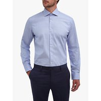 Hackett London End on End Cotton Shirt, Blue