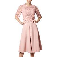L.K.Bennett Etta Lace Trim Dress, Blush