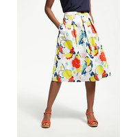 Boden Lola Skirt, Ivory/Blooming Bouquet