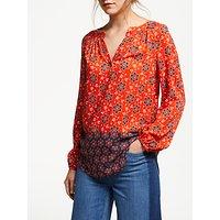 Boden Maya Top, Blood Orange/Floral