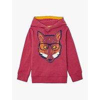 John Lewis & Partners Boys' Fox Hooded T-Shirt
