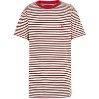Fat Face Boys Fine Stripe T-Shirt, Red