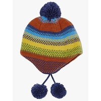 John Lewis Children's Stripe Trapper Hat, Multi