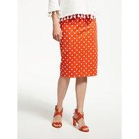 Boden Richmond Spot Pencil Skirt, Blood Orange