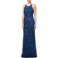 Adrianna Papell Low Back Crunchy Dress, Deep Blue