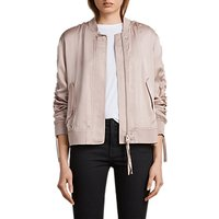 AllSaints Ellis Bomber Jacket, Quartz Pink