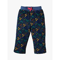 'Frugi Organic Baby Cally Cord Floral Trousers, Multi