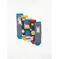 John Lewis & Partners Boys' Space Socks, Pack of 5, Blue
