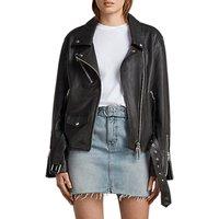 AllSaints Billie Biker Jacket, Black