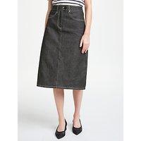 Finery Gemma Denim Skirt, Black