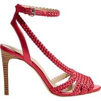 Karen Millen Plaited Stiletto Heel Sandals, Hot Pink