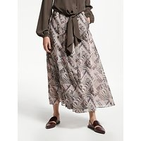 Modern Rarity Archive Print Box Pleat Midi Skirt, Multi