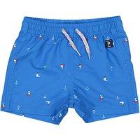 Polarn O. Pyret Baby Sail Boat Swim Shorts, Blue