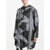 PATTERNITY + John Lewis Triangles Print Pac-A-Mac, Black/White