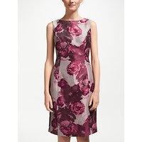 Bruce by Bruce Oldfield Jacquard Shift Dress, Pink/Wine Tasting