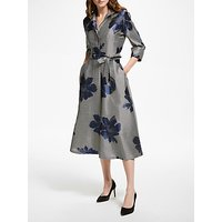 Bruce by Bruce Oldfield Jacquard Stripe Floral Shirt Dress, Multi