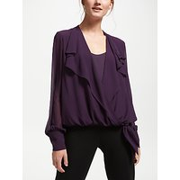 Bruce by Bruce Oldfield Wrap Over Tie Waist Blouse, Wine Tasting