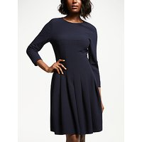 Bruce by Bruce Oldfield Pleated Dress, Navy