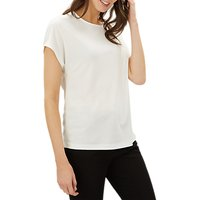 Jaeger Bow Back Jersey Top, Ivory