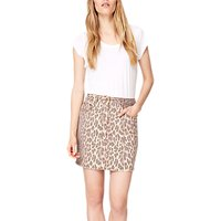 Damsel in a Dress Leopard Alexia Denim Skirt, Brown