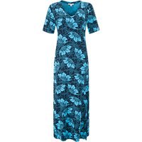 Pure Collection Floral Print Jersey Maxi Dress, Navy Floral Print