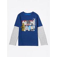 LEGO Boys' Star Wars T-Shirt, Blue