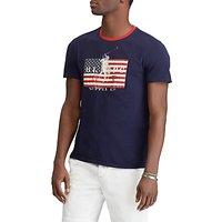 Polo Ralph Lauren Short Sleeve American Flag T-Shirt, Cruise Navy