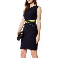 Karen Millen Athleisure Belted Dress, Navy