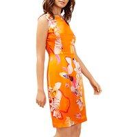 Fenn Wright Manson Tropical Print Silk Dress, Orange/Multi