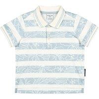 Polarn O. Pyret Baby Hawaiian Polo Shirt, Blue