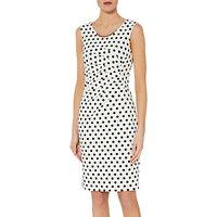 Gina Bacconi Ivonne Scuba Dress, White/Black